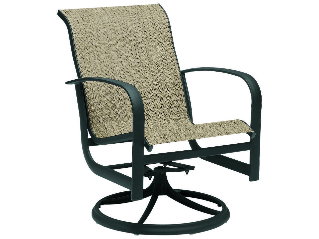 sling motion patio chairs hanging outdoor furniture woodard fremont aluminum swivel rocker wr2p0472