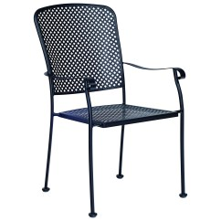 Wrought Iron Kitchen Chairs Roman Shades Woodard Fullerton Stackable Dining Chair 2z0001