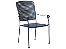 Woodard Fullerton Wrought Iron Dining Chair 2z0001