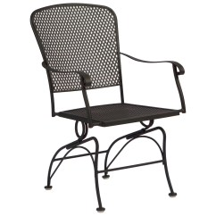 Restaurant Chair Repair Christmas Back Covers Ebay Woodard Fullerton Coil Spring Dining Replacement