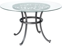 Woodard New Orleans Cast Aluminum 48 Round Glass Top Table ...