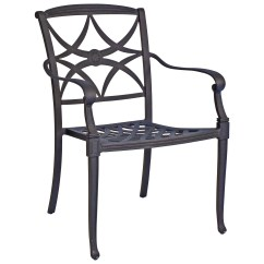 Stackable Metal Patio Chairs Personalized Childrens Table And Woodard Wiltshire Cast Aluminum Dining Chair
