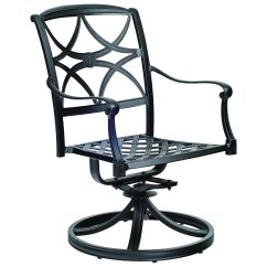 Aluminum Patio Chairs Ergo For Office Woodard Wiltshire Cast Swivel Rocker Dining Chair