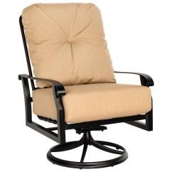Oversized Aluminum Rocking Chair Stool For Bar Woodard Cortland Cushion Extra Large Swivel