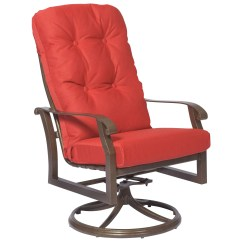 Lawn Chair Repair Black Rattan Dining Chairs Woodard Cortland High Back Swivel Rocker Replacement