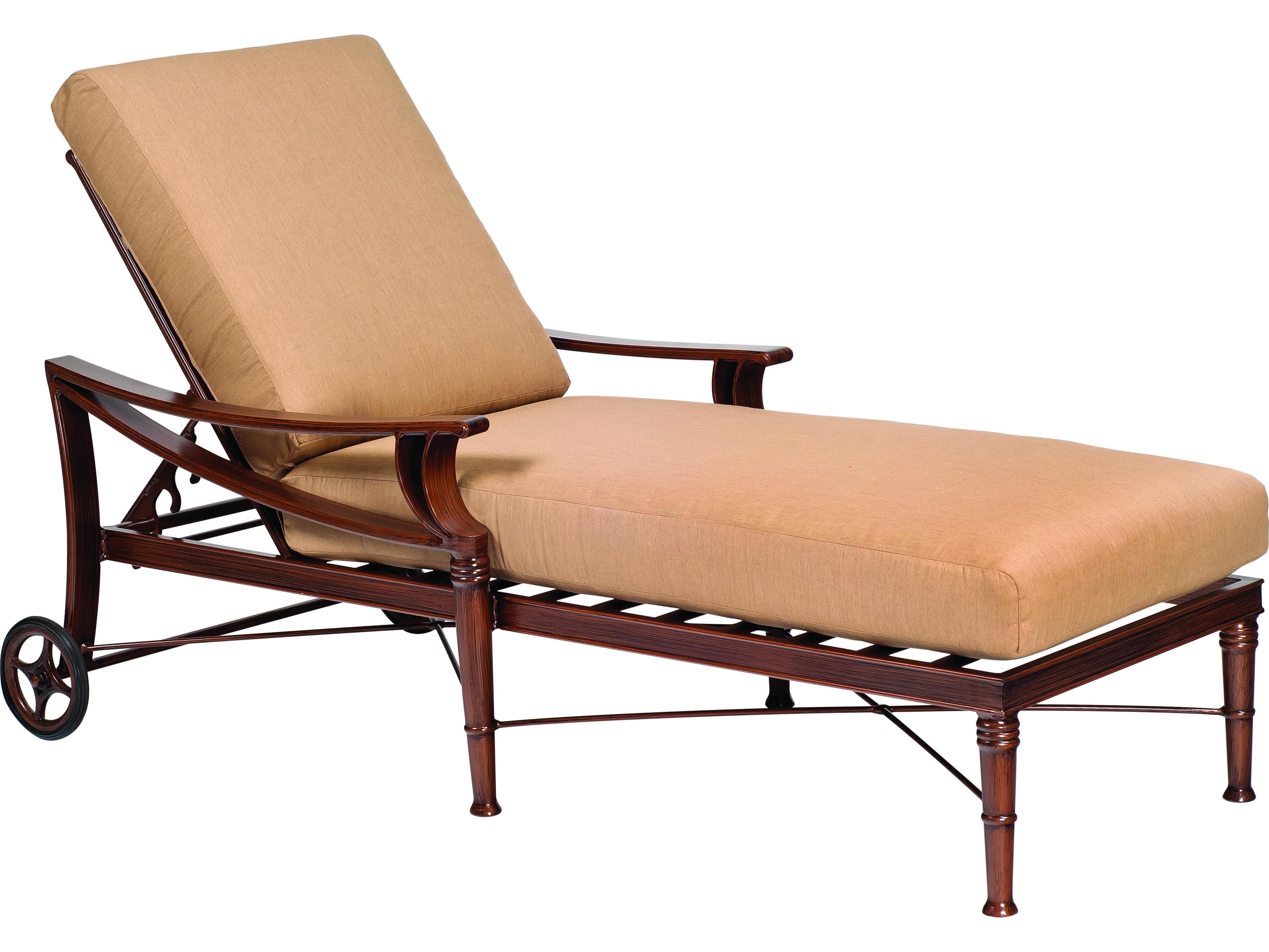 spotlight outdoor chair covers lounge woodard arkadia cushion aluminum adjustable chaise 590470
