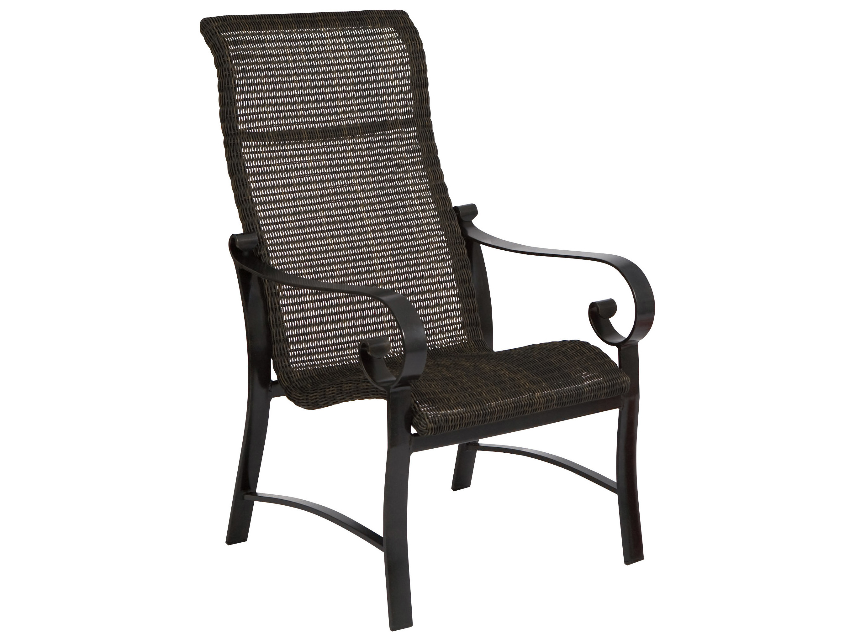 round wicker chair name steelcase leap v2 review woodard belden woven weave hi back dining