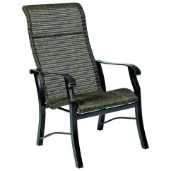 High Back Wicker Chair Cushions Wheelchair Jobs Woodard Cortland Woven Round Weave Dining