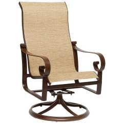Sling Replacement For Patio Chairs Game Chair Target Woodard Belden Aluminum High Back Swivel Rocker 620466