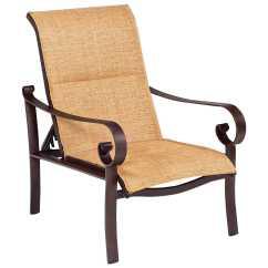 Aluminum Lounge Chairs Gold Wedding Woodard Belden Padded Sling Adjustable