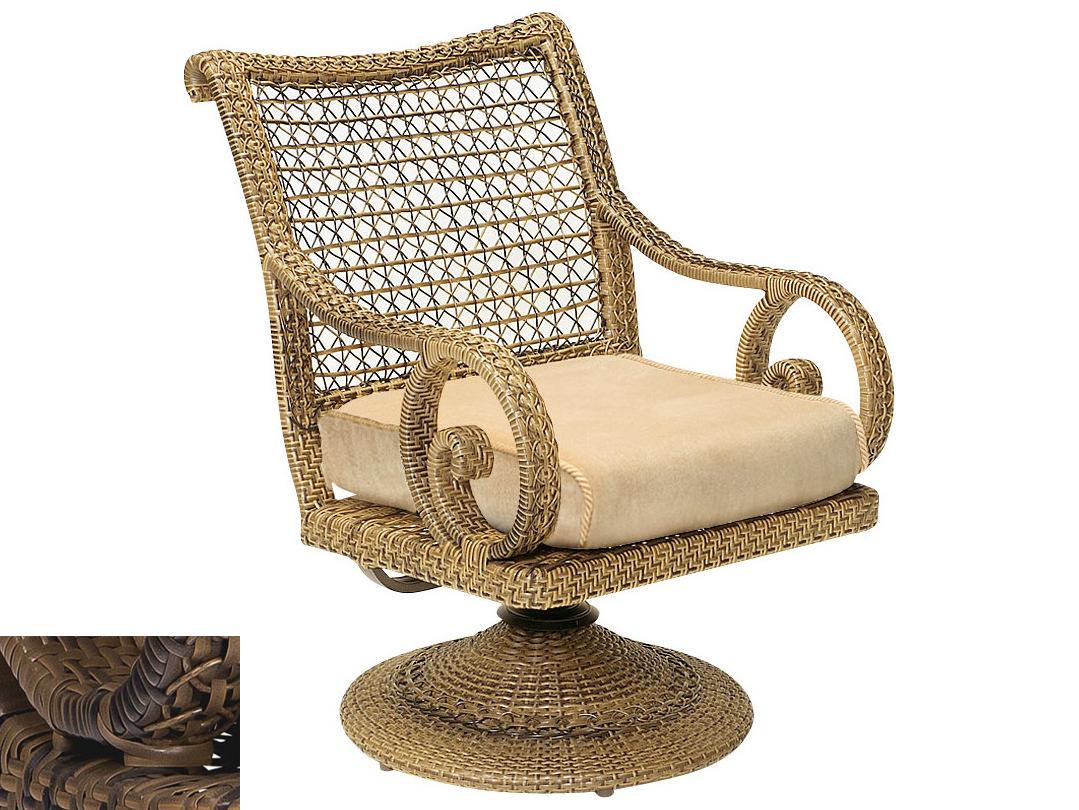 swivel chair cushions oval side woodard south shore rocker replacement