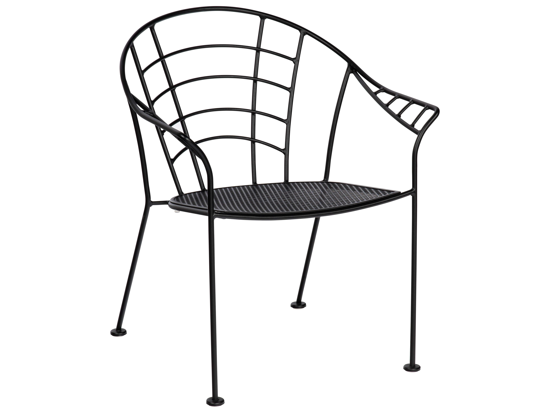Woodard Hamilton Wrought Iron Dining Arm Chair