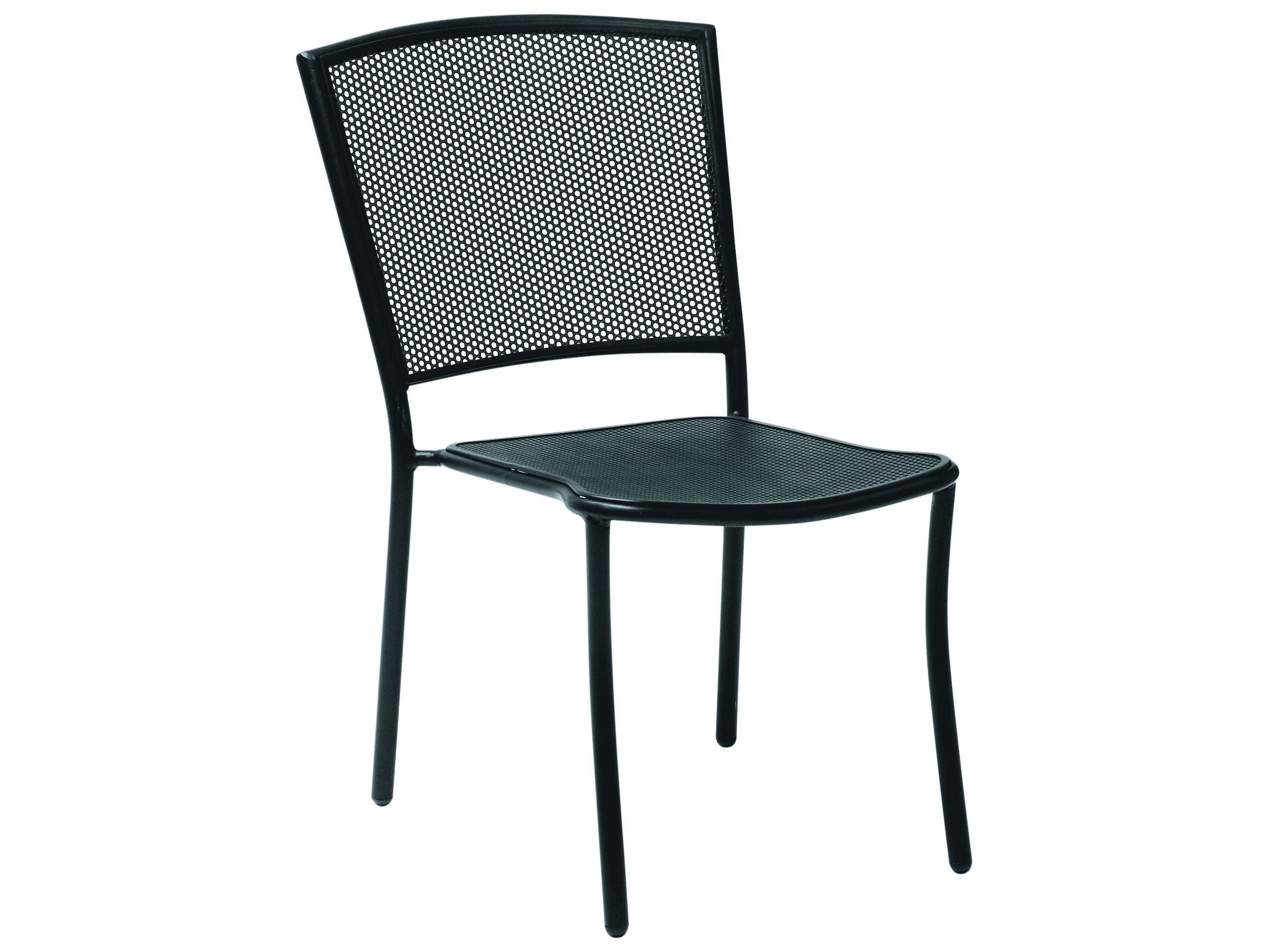 Black Metal Patio Chairs Woodard Albion Wrought Iron Dining Chair In Textured Black