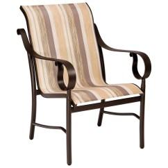 Low Back Lawn Chair Coleman Rocking Woodard Ridgecrest Sling Aluminum Dining