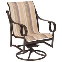 Low Back Lawn Chair 9 Ergonomic Knee Woodard Ridgecrest Sling Aluminum Swivel Rocker