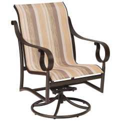 Low Back Lawn Chair Bed Bath And Beyond Chairs Folding Woodard Ridgecrest Sling Aluminum Swivel Rocker
