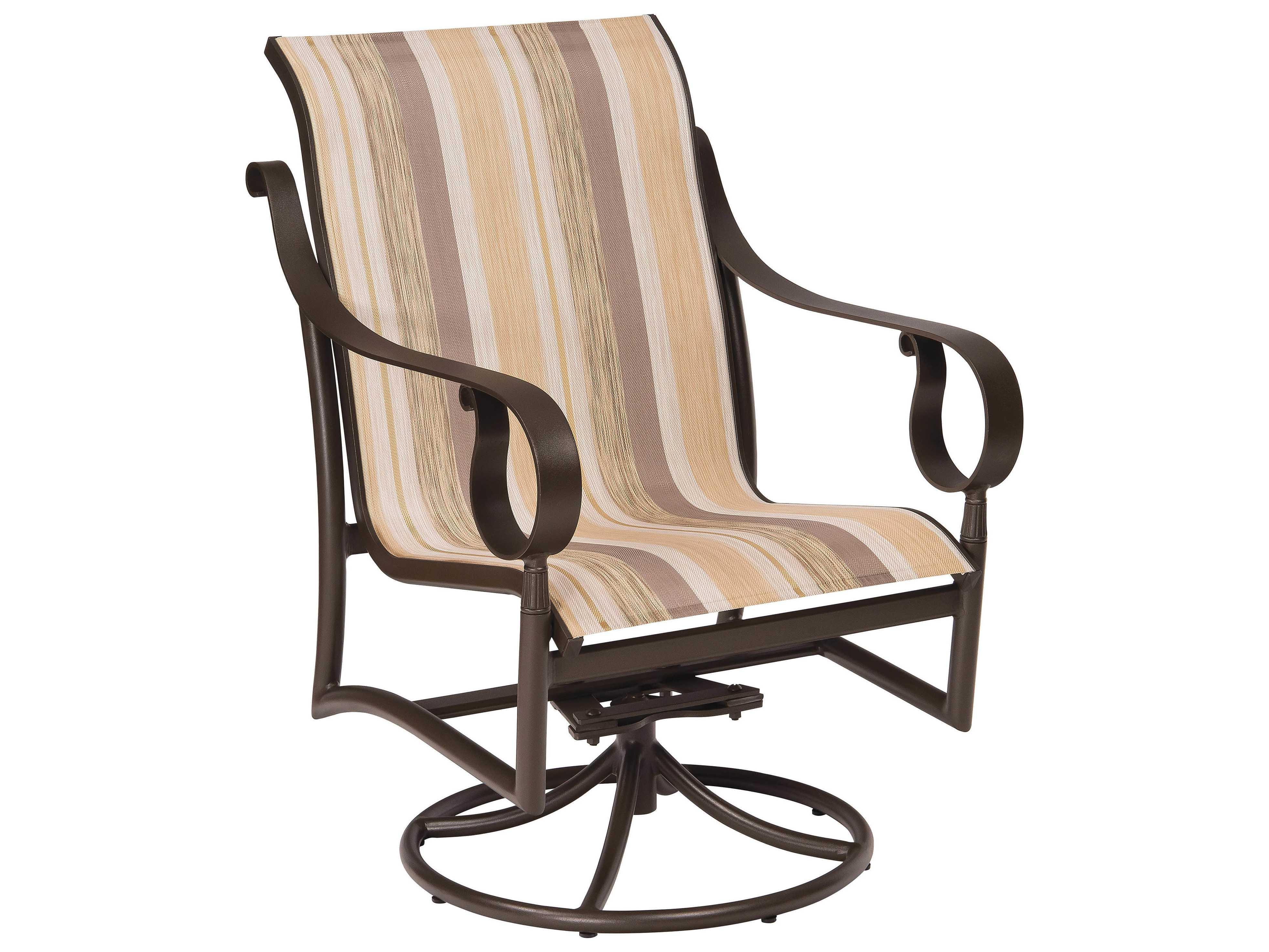 low back lawn chair target office for standing desk woodard ridgecrest sling aluminum swivel rocker