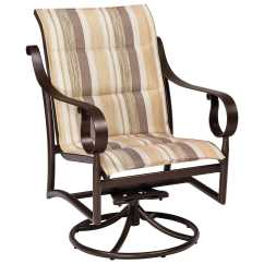 Low Outdoor Chairs Picture Frame Molding Above Chair Rail Woodard Ridgecrest Padded Sling Aluminum Back Swivel