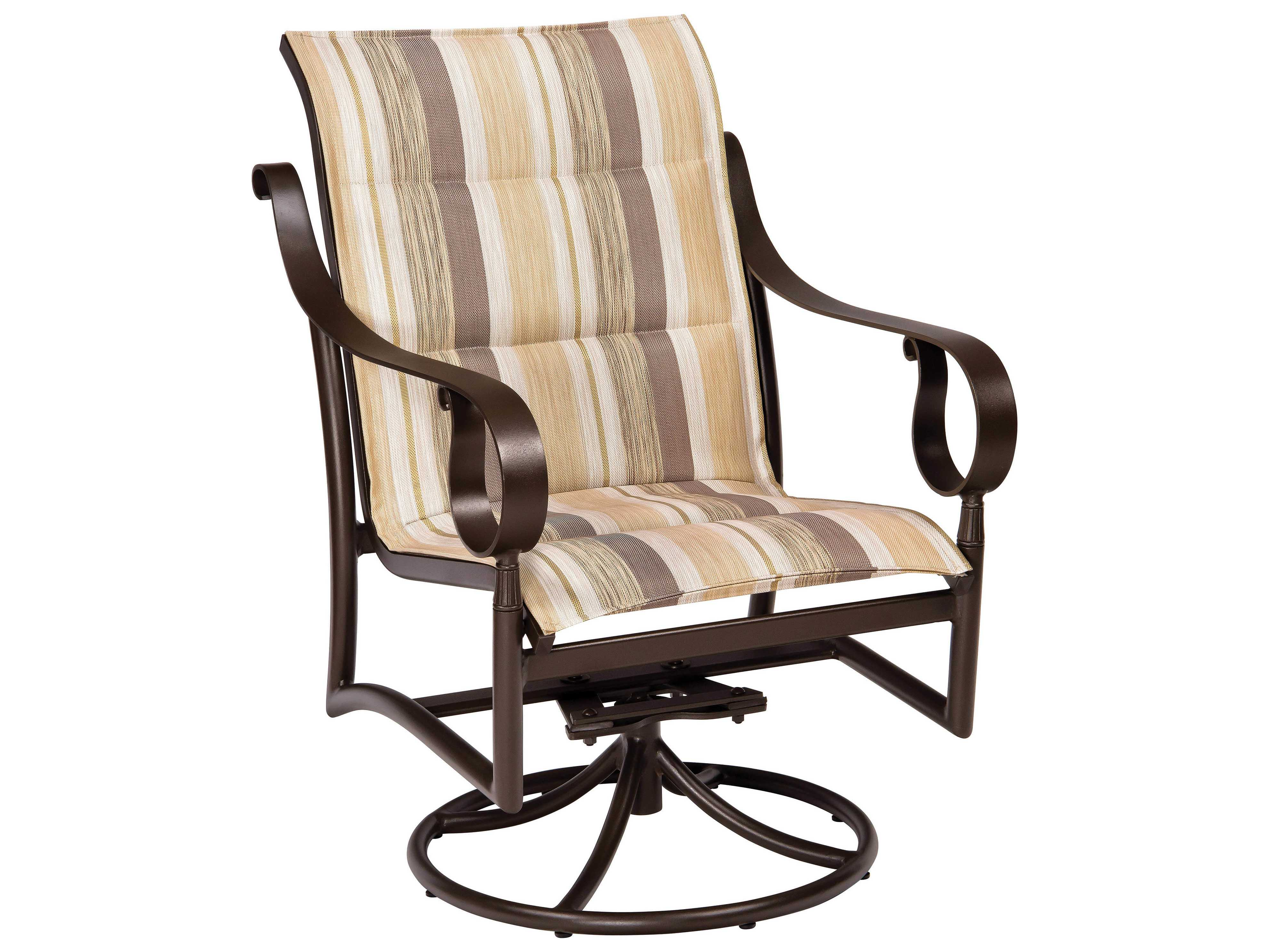 Sling Chairs Woodard Ridgecrest Padded Sling Aluminum Low Back Swivel