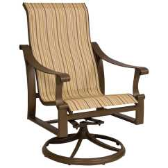 Sling Back Patio Chairs Energy Pod Chair Price Woodard Bungalow Aluminum High Swivel Rocker
