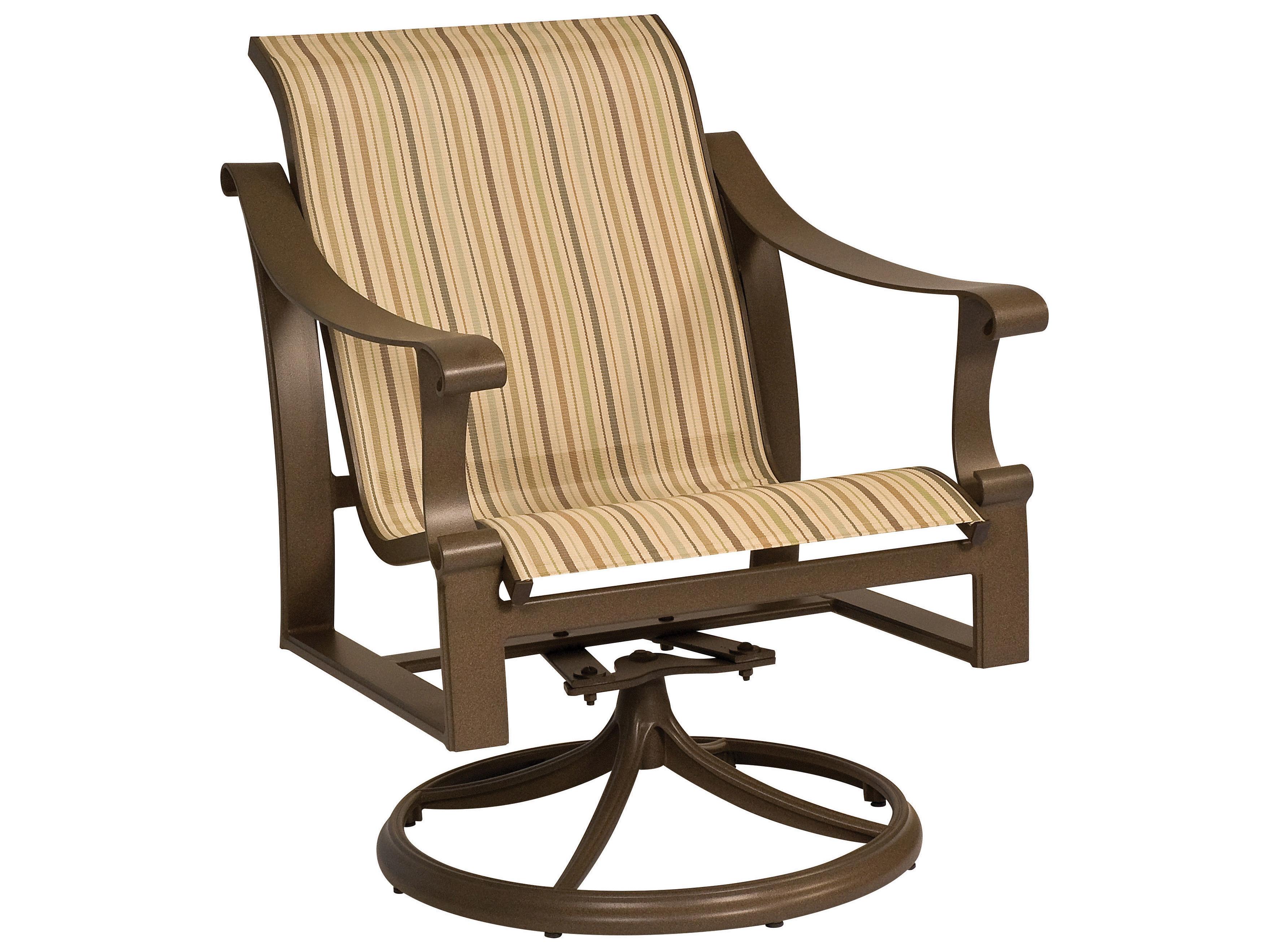 low back chairs camping home depot hampton bay chair covers woodard bungalow sling aluminum swivel rocker