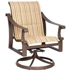 Sling Motion Patio Chairs Lawn Chair Usa Reviews Woodard Bungalow Padded Aluminum Dining 830572