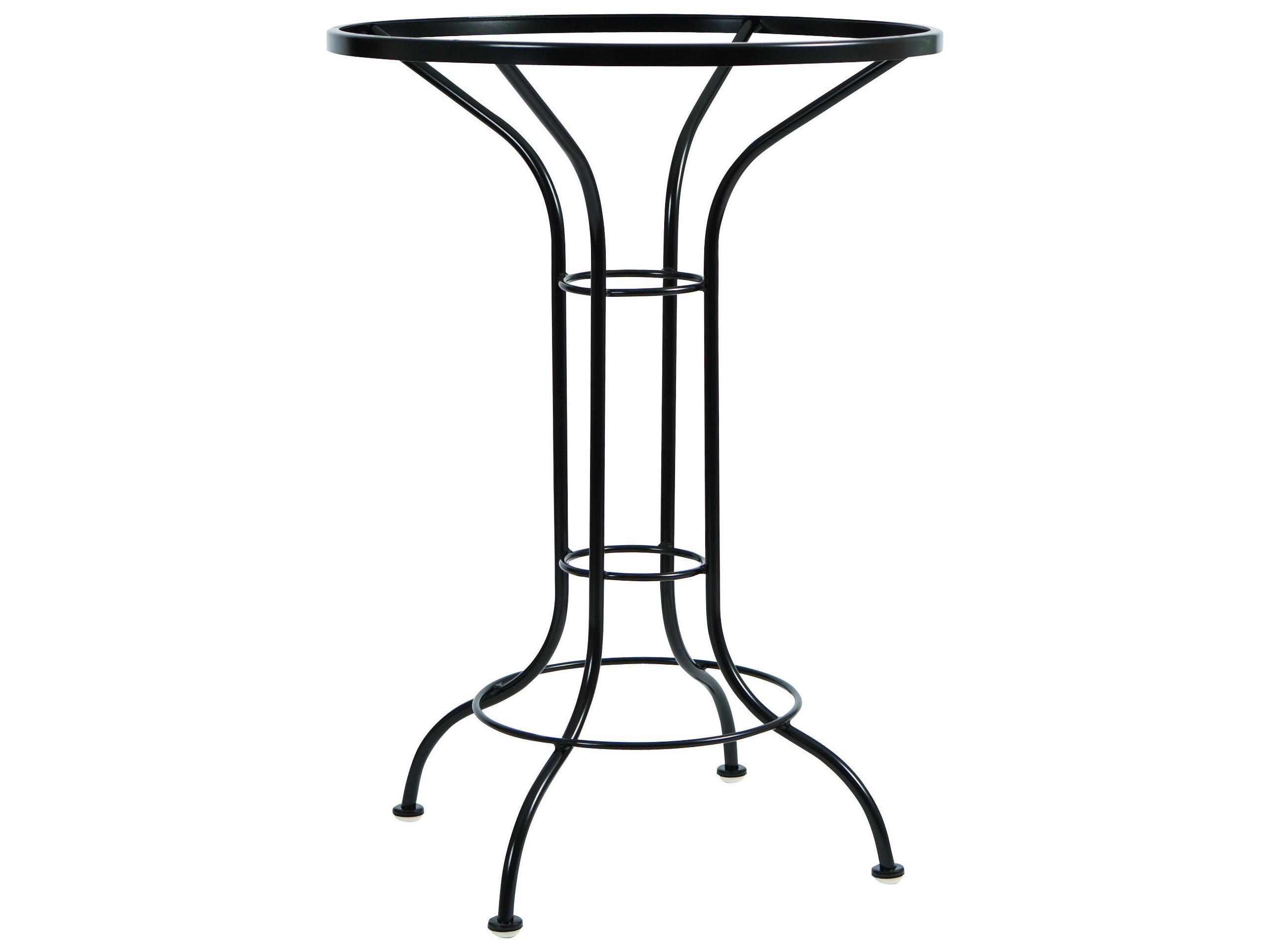 Woodard Wrought Iron Round Bar Height Table Base