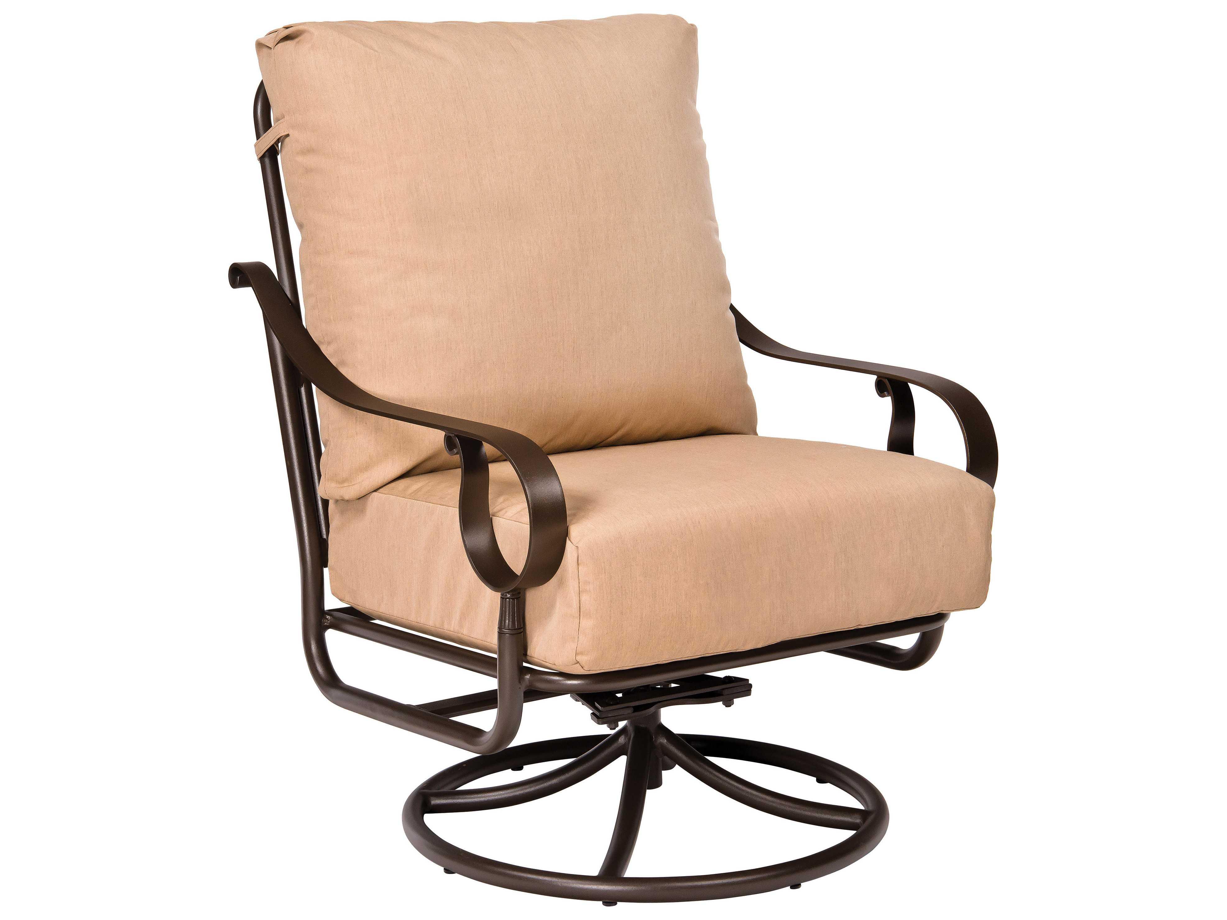 oversized aluminum rocking chair used dining chairs woodard ridgecrest cushion extra large swivel