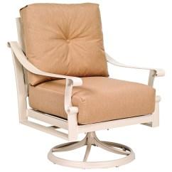 Swivel Chair Cushions Designer Charles Woodard Bungalow Rocker Dining Replacement