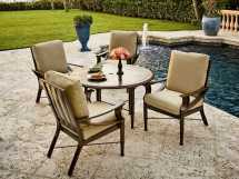 Woodard Carson Aluminum Dining Table Base Wr5p4800