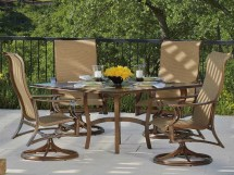 Woodard Arkadia Sling Aluminum Dining Set Arkadinset2