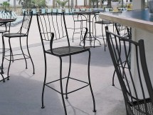 Woodard Aurora Wrought Iron Bar Dining Set Auorabarset