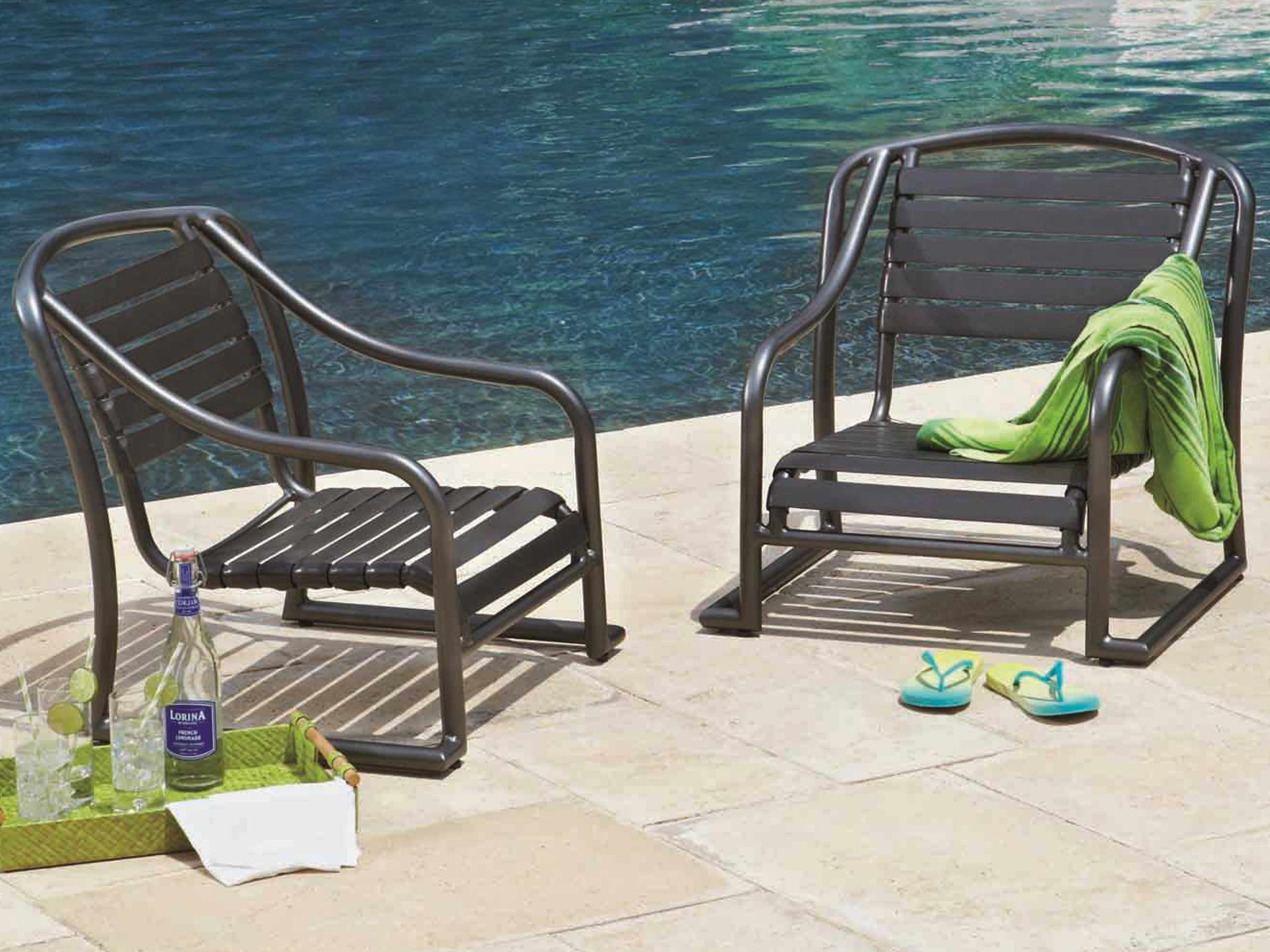 lounge chair replacement straps walmart resin chairs woodard baja strap aluminum stackable sand 230450