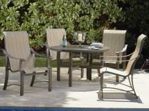 Woodard Bungalow Sling Aluminum High Dining Chair