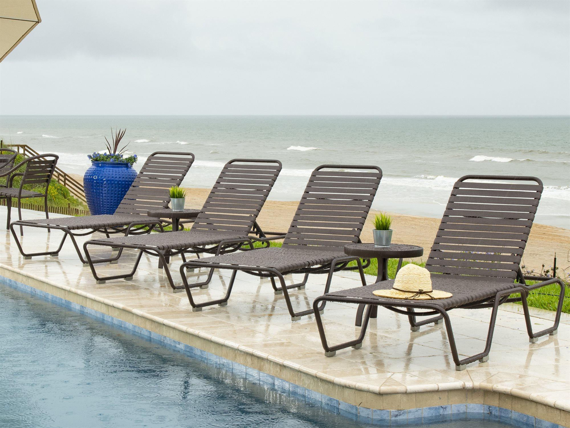 baja beach chairs used knoll woodard strap aluminum chaise lounge wr23m470