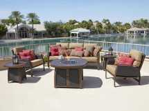Woodard Exclusive Quick Ship Brody Lounge And Firepit Set