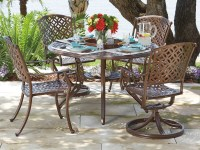 Woodard Casa Cast Aluminum 48 Round Dining Table with ...