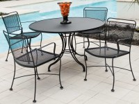 Woodard Constantine Wrought Iron Dining Set | CONDS