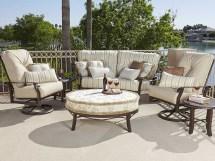 Woodard Cortland Cushion Aluminum Universal Oval Ottoman