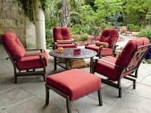 Woodard Cortland Cushion Aluminum Spring Lounge Chair 4z0465