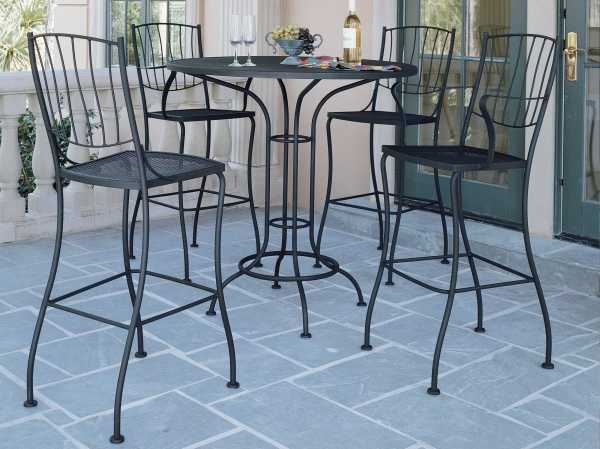 Woodard Aurora Wrought Iron Bar Stool 5l0081