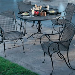 Wrought Iron Dining Chairs Big With Ottoman Woodard Modesto Set Gccds Hover To Zoom