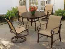 Woodard Belden Sling Aluminum Dining Arm Chair Wr62h401