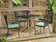 Woodard Amelie Wrought Iron Dining Set Gvbds