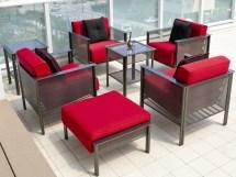 Woodard Jax Wrought Iron Lounge Chair 2j0006