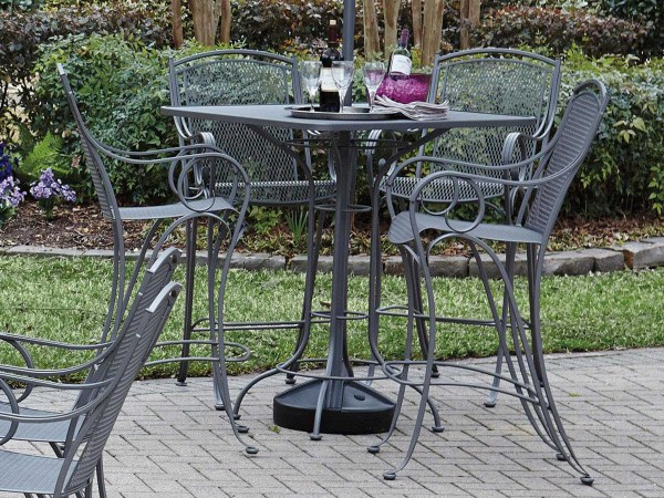 Woodard Modesto Wrought Iron Bar Stool Wr260081