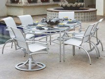 Woodard Nob Hill Sling Aluminum Dining Chair 300401