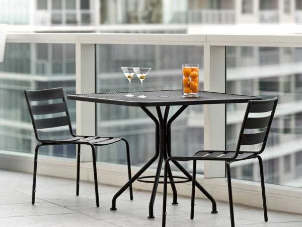 wrought iron patio furniture dining sets Woodard Metro Wrought Iron Dining Set | TDBDS