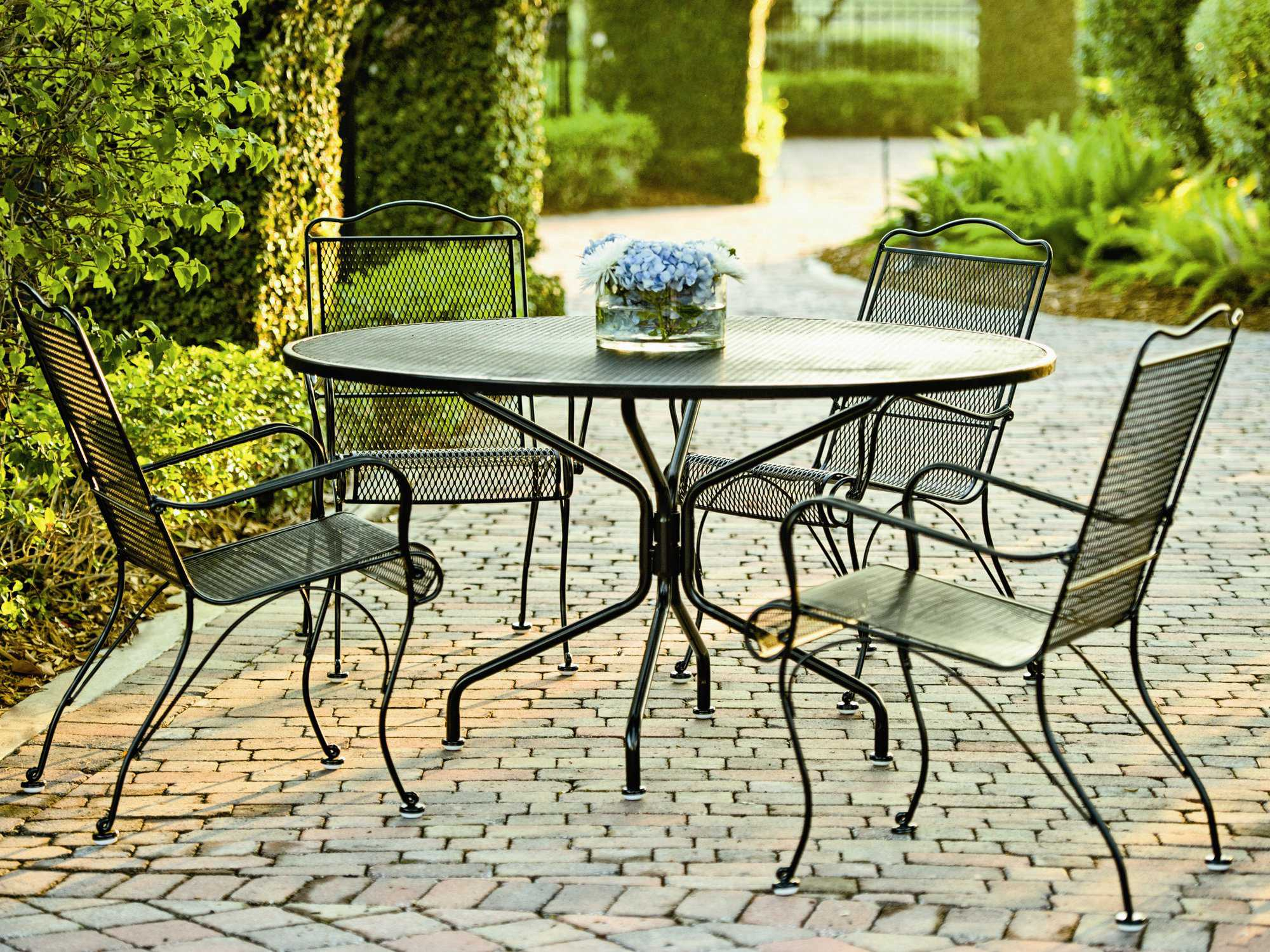 high back metal dining chairs 49ers camping chair woodard tucson wrought iron arm