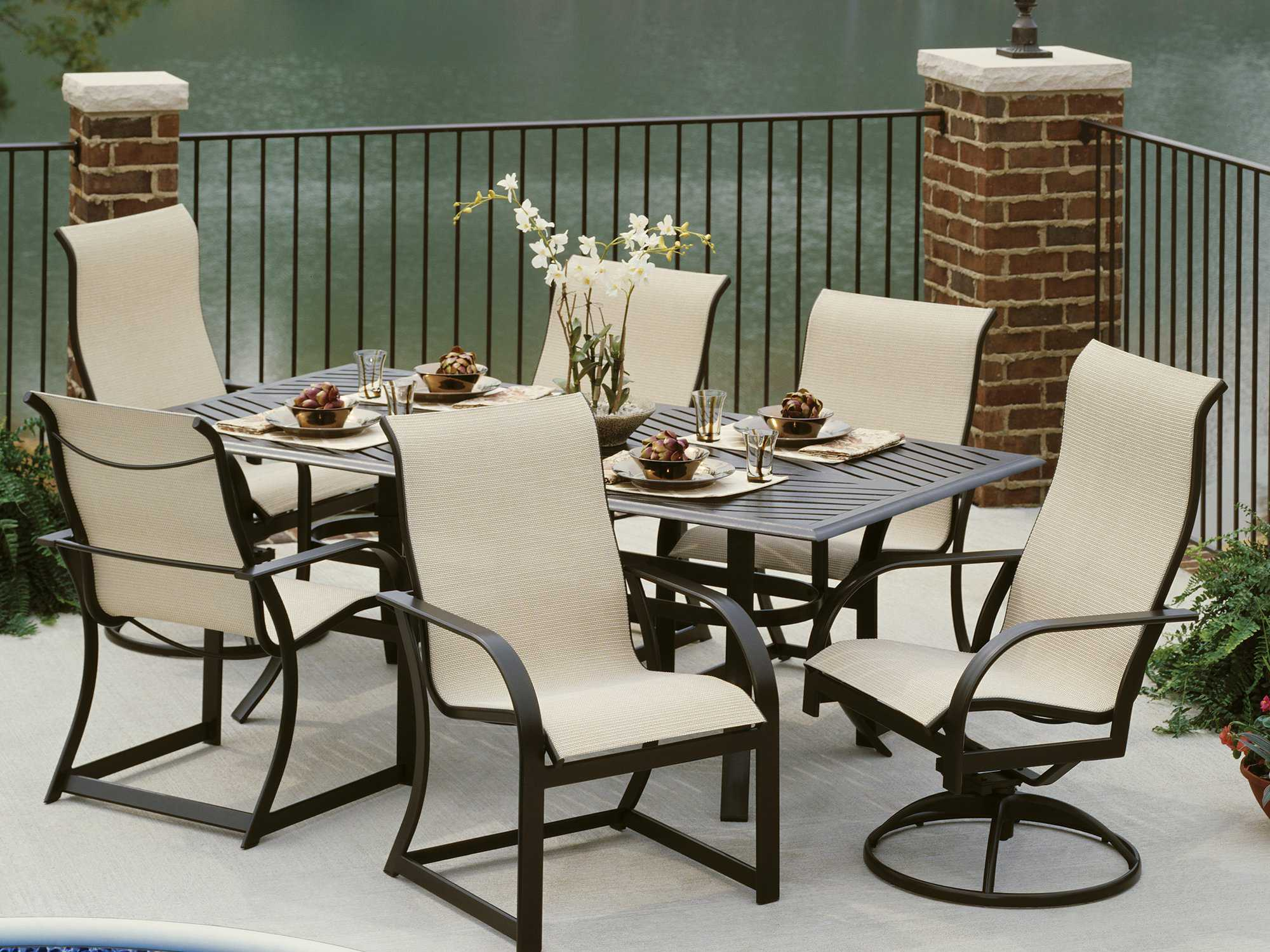 key west chairs outdoor chair with ottoman winston sling aluminum ultimate high back dining